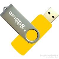 Hi-Level 8GB USB 2.0 Twist USB Bellek HLV-USB20S/8G