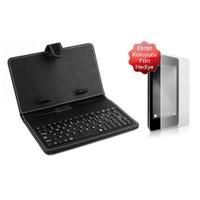 """Codegen CKL-0101KL 10,1"""" Micro USB Türkçe Klavyeli Stand Deri Tablet Kılıfı + Ekran Koruyucu Film Hediyeli"""