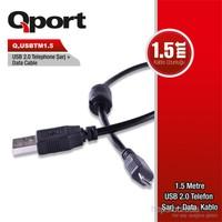 Qport 1.5 M Micro USB 2.0 Şarj+Data Kablosu (Q-USBTM1.5)