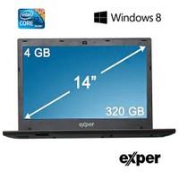 "Exper Ultranote A4B-HBR03 Intel Core i3 2328M 2.2GHz 4GB 320GB 14"" Taşınabilir Bilgisayar"