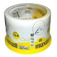 Maxell CD-R 52X 700MB 50'li Cakebox Printable