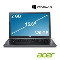 """Acer E1-522-12502G32Mnkk AMD E1-2500 1.4GHz 2GB 320GB 15.6"""" Taşınabilir Bilgisayar"""