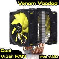 Akasa Venom Voodoo Intel 2011/1156/1155/1150/1151 AM2/AM2+/AM3/AM3+ Uyumlu İşlemci Soğutucu (AK-CC4008HP01)