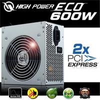 High Power ECO 600W Aktif PFC Yüksek Verimli Gerçek Güç Kaynağı (HPE-600-A12S)