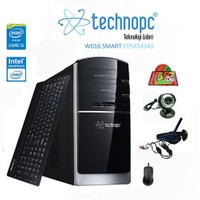 Technopc W016 SMART FD5454340 Intel Core i5 450 2.4GHz 4GB 500GB Masaüstü Bilgisayar