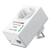 Netmaster PLB-500P Topraklı Prizli powerLINE Ethernet Bridge 500 Mbps HomePlug AV 500