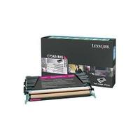 Lexmark C734a1mg Lexmark C73x X73x Kırmızı 6.000 Sayfa Return Toner