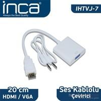 Inca HDMI to VGA Jaklı Çevirici IHTVJ-7 20 cm Ses Kablosu Dahil