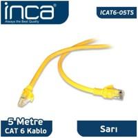 Inca ICAT6-05TS CAT6 5M Sarı
