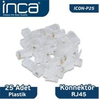 Inca ICON-P25 RJ-45 25 Adet Plastik Konnektör