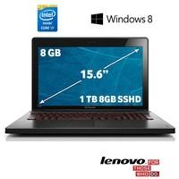 """Lenovo Ideapad Y510P Intel Core i7 4700MQ 2.4GHz / 3.4GHz 8GB 1TB (8GB SSHD) 15.6"""" Taşınabilir Bilgisayar 59-407130"""