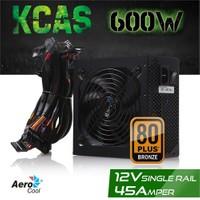 Aerocool KCAS 600W 80+ Bronze 12V 45A Aktif PFC Güç Kaynağı (AE-KCAS600)