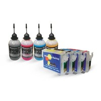 Epson T0711-T0714 Uyumlu Kolay Dolan Kartuş Pigment Mürekkepli Set