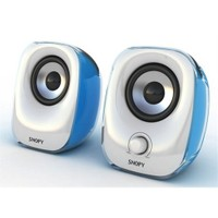 Snopy SN-11 2.0 3W*2 Beyaz/Mavi Usb Speaker (9240)