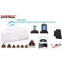Everest Kb-Bt420 Beyaz Bluetooth İpad/İphone/Mac Stand Ve Kablosuz Klavye