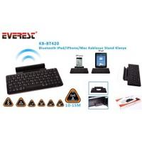 Everest Kb-Bt420 Siyah Bluetooth İpad/İphone/Mac Stand Ve Kablosuz Klavye