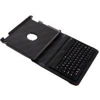 Dark iFlip Key iPad 2/New iPad/iPad 4 Bluetooth Klavyeli 360 Derece Dönebilen Siyah Deri Kılıf ve Stand (DK-AC-IPKB05)