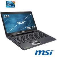 """MSI CX640-097XTR Intel Core i5 2410M 2.3GHZ 2GB 500GB 15.6"""" Taşınabilir Bilgisayar"""
