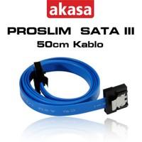 Akasa ProSlim SATA III 50cm Mavi Kablo (AK-CBSA05-50BL)