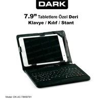 """Dark 7.9"""" Türkçe Klavyeli Stand Deri Tablet Kılıfı + Kalem Hediyeli (DK-AC-TBKB791)"""