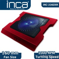 "Inca INC-336DXK Ultra Performans 16cm Super Sessiz Led Fan Metal Izgara USB HUB 7""-15,4"" Kırmızı Notebook Soğutucu"