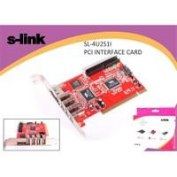 S-Link Sl-4U2s1ı Pcı Usb 4 Port+Esata+Sata+Ide Kart