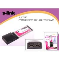 S-Link Sl-Exp80 Pcmci Express 1394 800Mbs 2 Port Kart