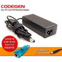 Codegen Asus 19V 3.42A 65W Notebook Adaptör