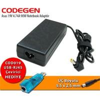 Codegen Asus 19V 4.74A 90W Notebook Adaptör