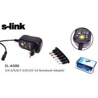 S-Link Sl-Ad86 3/4.5/5/6/7.5/9/12V 1A Notebook Universal Adaptör