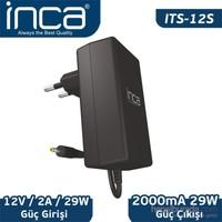 Inca ITS-12S 2.5mm 12V 2A Siyah Tablet Şarj Adaptörü