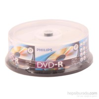 Phılıps Dvd-R 4.7Gb 120Mın 1-16X 25Li Cakebox