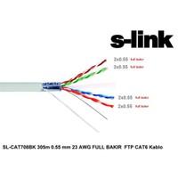 S-Link Sl-Cat708bk 305M 0.55Mm 23 Awg Full Bakırftp Cat6 Kablo