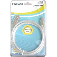 Flaxes Fmu-01 Usb 5Pin 1 Mt Kamera Kablosu %100 Bakır Şeffaf Blıster Kutu