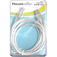 Flaxes FPR-01 USB 2.0 1.5m %100 Bakır Blister Kutu Yazıcı Kablosu