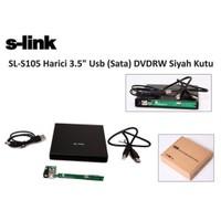 S-Link Sl-S105 Harici 3.5` Usb (Sata) Dvdrw Siyah Kutu