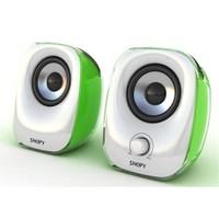 Snopy Sn-11 2.0 3W*2 Beyaz/Yeşil Usb Speaker