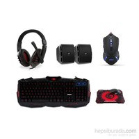Everest SGM-K77 Usb Gaming Set Kulaklık+Speaker+ Q Multimedia Klavye + Mouse + Pad Set