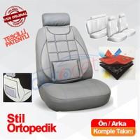 Stil Ortopedik Oto Koltuk Kılıf Seti Gri 8095