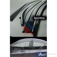 Sportline MUGEN STYLE Nikelaj Hatlı Fiat Linea Ön-Arka Rüzgarlık Seti