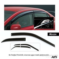Schwer Mugen Honda Civic 2007-2012 Cam Rüzgarlığı Seti ( 4 Parça Ön-Arka)-8257