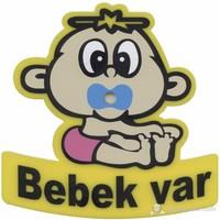 Emzikli Arabada Bebek Var Özel Kesim Vantuzlu Levha OTDMC0146P