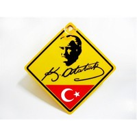 """Z tech """"K.Atatürk Bayrak"""" Vantuzlu Pleksi Sticker 11x11cm"""