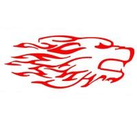 Z tech Vahşi Kırmızı Kurt Kafası Stickerı 19x9 cm