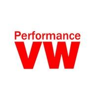 """Z tech """"Performance VW """" Kırmızı Sticker 12x7cm"""