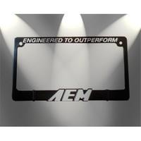 Z tech AEM Beyaz Logo lu Kare Tip Spor Plakalık