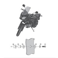 Kappa D3101kıt Suzukı Dl 650 V-Strom (11-15) Rüzgar Sıperlık Baglantısı