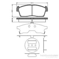 Bosch - Fren Balatası Ön (Suzukı Alto Iv (Ff)1.1I (07/02-) [ 108,7X42,8X14,6 Mm ] - Bsc 0 986 Tb2 930