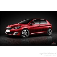 S-Dizayn Peugeot 308 2014 Kapı Koruma Çıtası Krom P.Çelik + Abs Plastik 8 Prç.