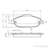 Bosch - Fren Balatası Ön (Peugeot P.308 1.4 16V,1.6 16V,1.6 H - Bsc 0 986 Tb3 059